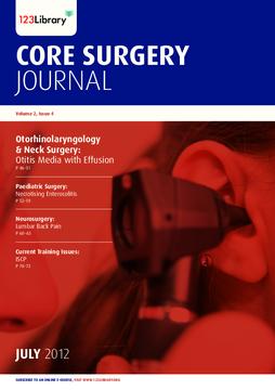 Core Surgery Journal, volume 2, issue 4: Otorhinolaryngology and Neck Surgery