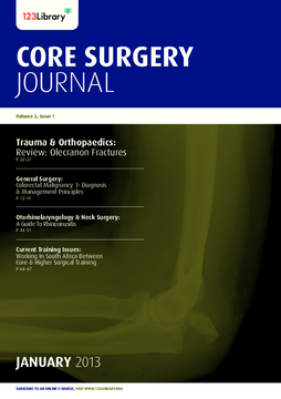 Core Surgery Journal, volume 3, issue 1: Trauma & Orthopaedic Surgery