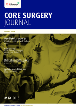 Core Surgery Journal, volume 3, issue 3: Paediatric Surgery