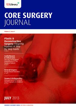 Core Surgery Journal, volume 3, issue 4: Plastic & Reconstructive Surgery