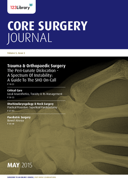 Core Surgery Journal, volume 5, issue 3: Trauma and Orthopaedic Surgery