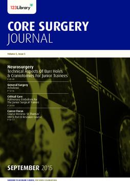 Core Surgery Journal, volume 5, issue 5: Neurosurgery