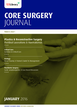 Core Surgery Journal, volume 6, issue 1: Plastics and Reconstructive Surgery
