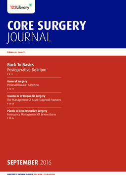 Core Surgery Journal, volume 6, issue 3: Back To Basics
